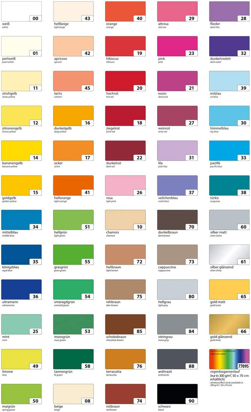 folia 6418 - Tonpapier ziegelrot, DIN A4, 130 g/qm, 100 Blatt - zum Basteln und kreativen Gestalten