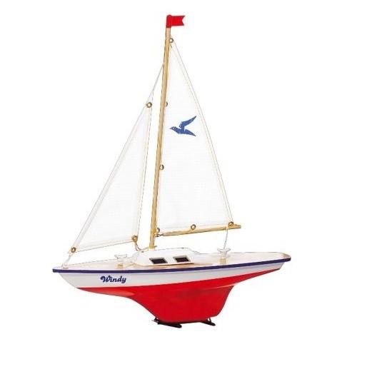 Paul Günther 1804 - Segelboot Windy, kleine Segeljolle zum Spielen, ca. 35 x 42 cm groß, hochwertig
