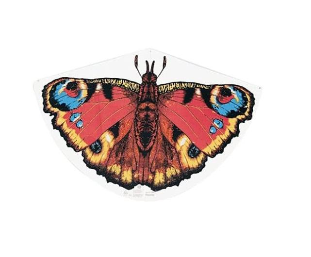 Paul Günther 1103 - Kinderdrachen mit Schmetterling Motiv, Einleinerdrachen aus robuster PE-Folie mi