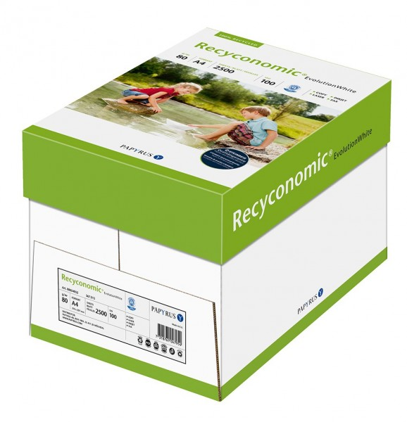 Papyrus 88054052 Recycling-Papier, Druckerpapier Recyconomic EvolutionWhite 80 g/m ² DIN-A4, 2500 Bl