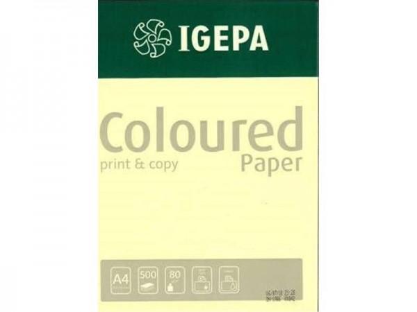 Igepa Coloured Paper Pastell gelb 80g/m² DIN-A4 - 500 Blatt