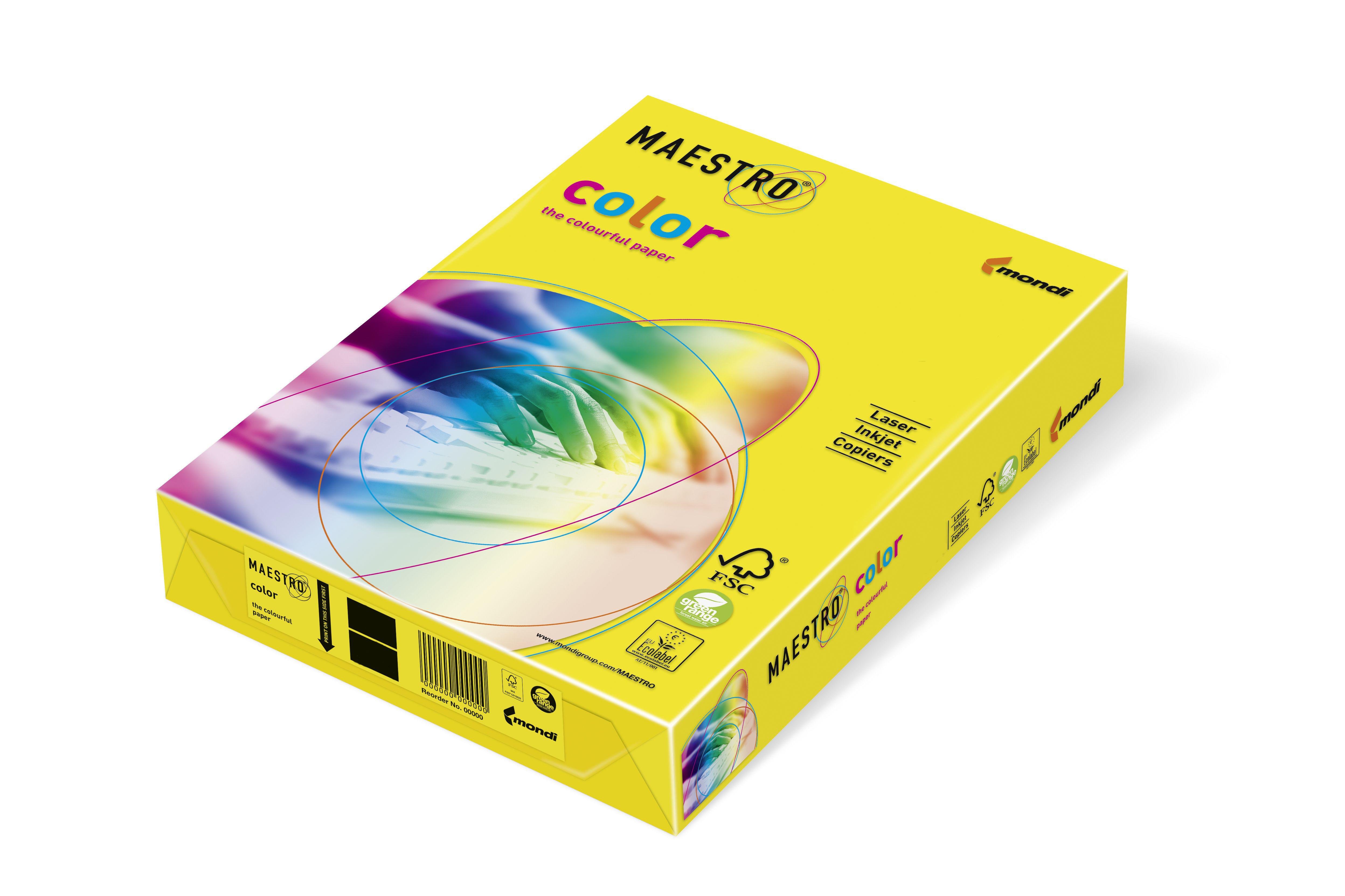 Mondi Maestro Color zitronengelb 80g/m² DIN-A3 - 500 Blatt ZG34