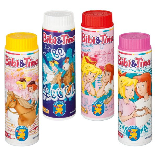 Pustefix - Kleinpackung - 42 ml - Seifenblasen - Bibi und Tina - 1 Stück - Bubbels - Seifenblasen fü