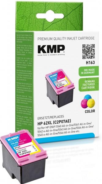 KMP H163 farbig Tintenpatrone ersetzt HP ENVY HP 62XL (C2P07AE)