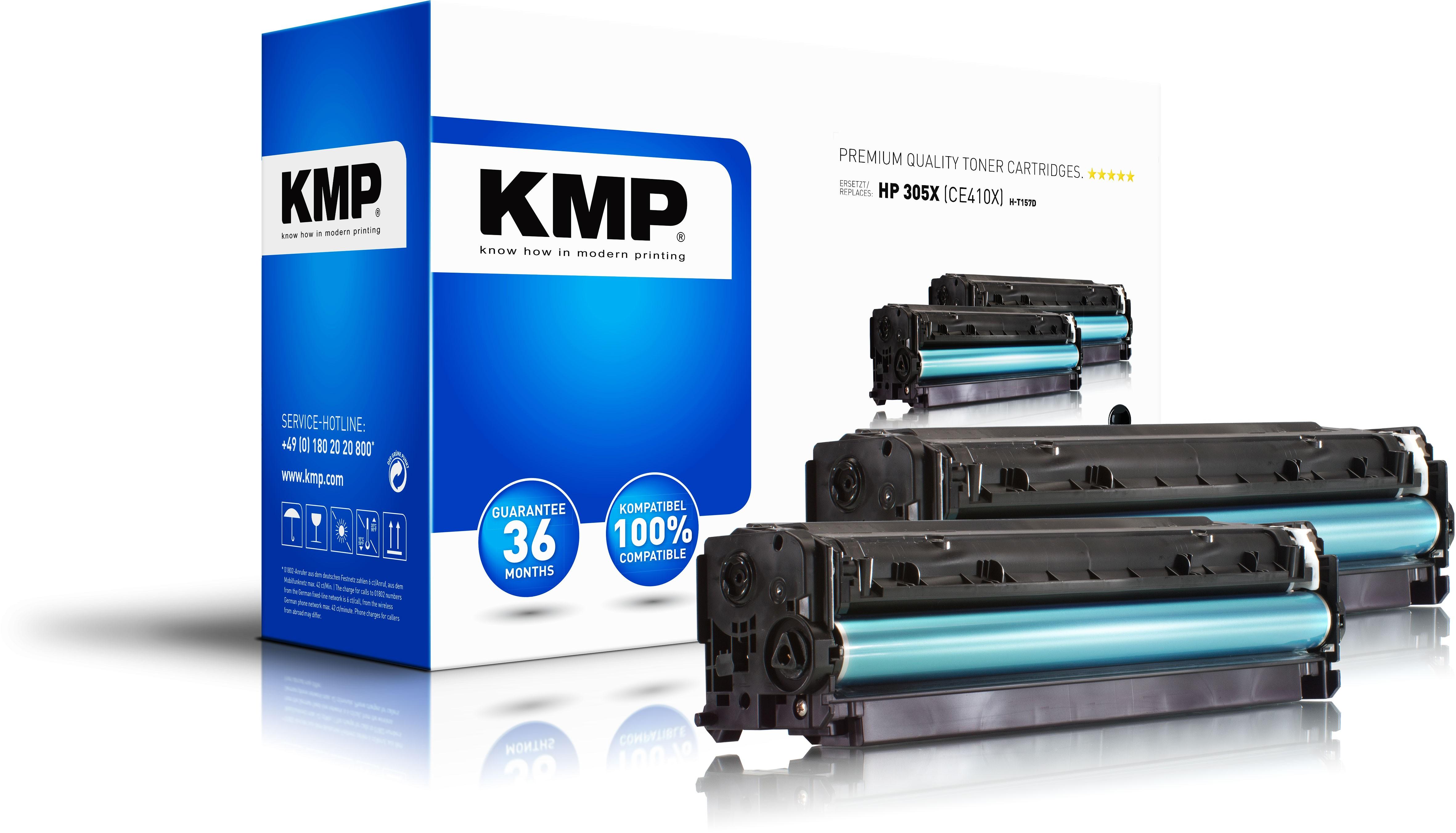 KMP Toner H-T157D für HP CE410X LaserJet Pro 300 Serie / Pro 400 Serie black