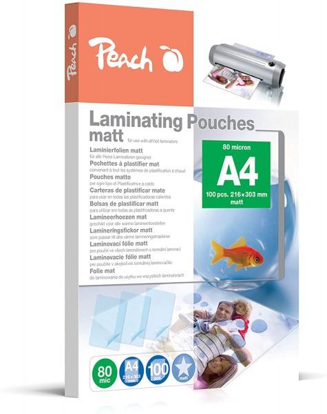 Peach S-PP580-22, Laminierfolien A4, 80 mic, matt 100 Stk