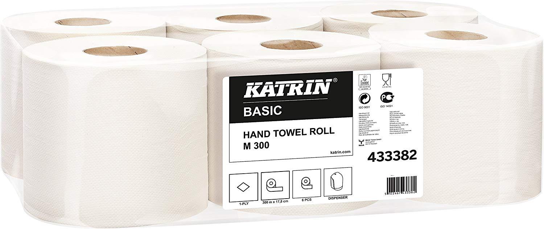 Katrin 433382 Basic M300 Handtücher, 1-lagig, NaturWeiß (6-er Pack)