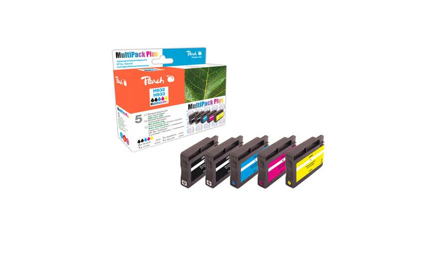 Peach Spar Pack Plus Tintenpatronen kompatibel zu HP No. 932, No. 933 - PI300-709