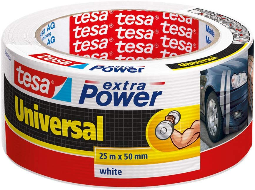 tesa Reparaturband extra Power Universal, weiß, 25m x 50mm