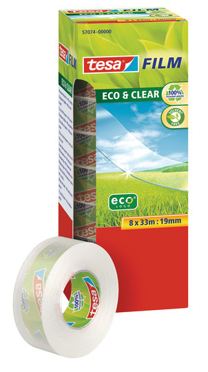 Vorschau: tesafilm Eco & Clear 8 x 33m x 19mm