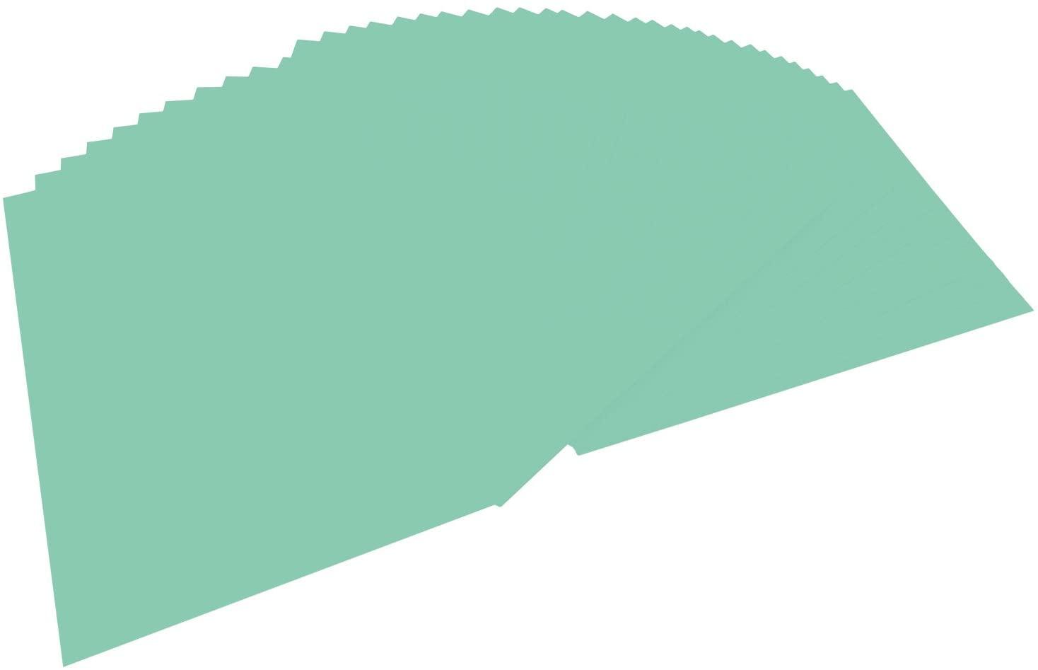 folia 6425 - Tonpapier mint, DIN A4, 130 g/qm, 100 Blatt - zum Basteln und kreativen Gestalten von K