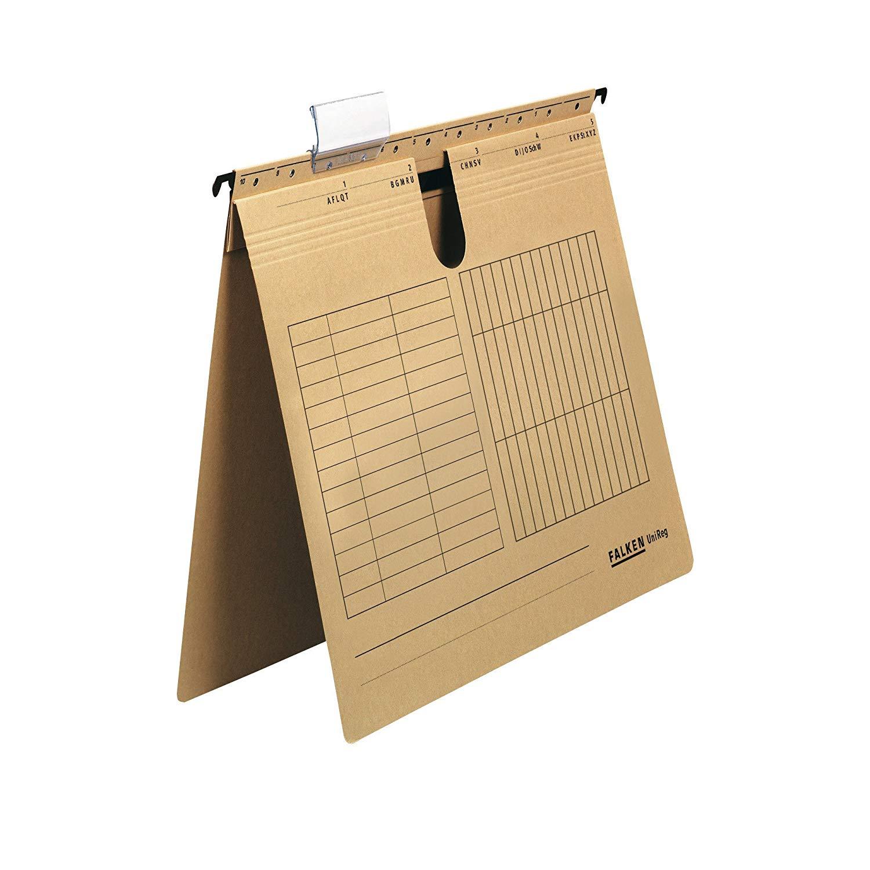 Falken Hängehefter 80004344 UniReg, braun 230g/m²-Kraftkarton, kaufm. Heftung