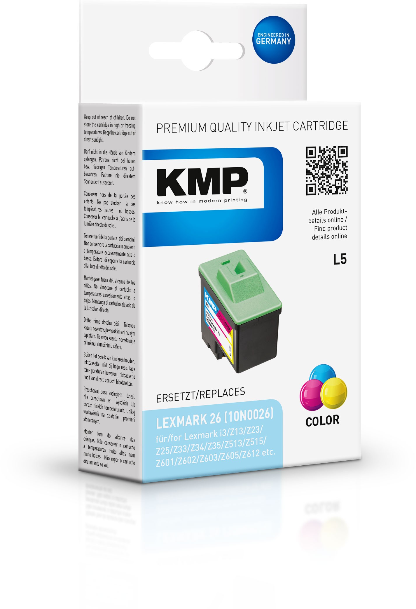 KMP Patrone L5 komp. zu Nr. 26 Lexmark Z13 Z25 Z35 Z600 color