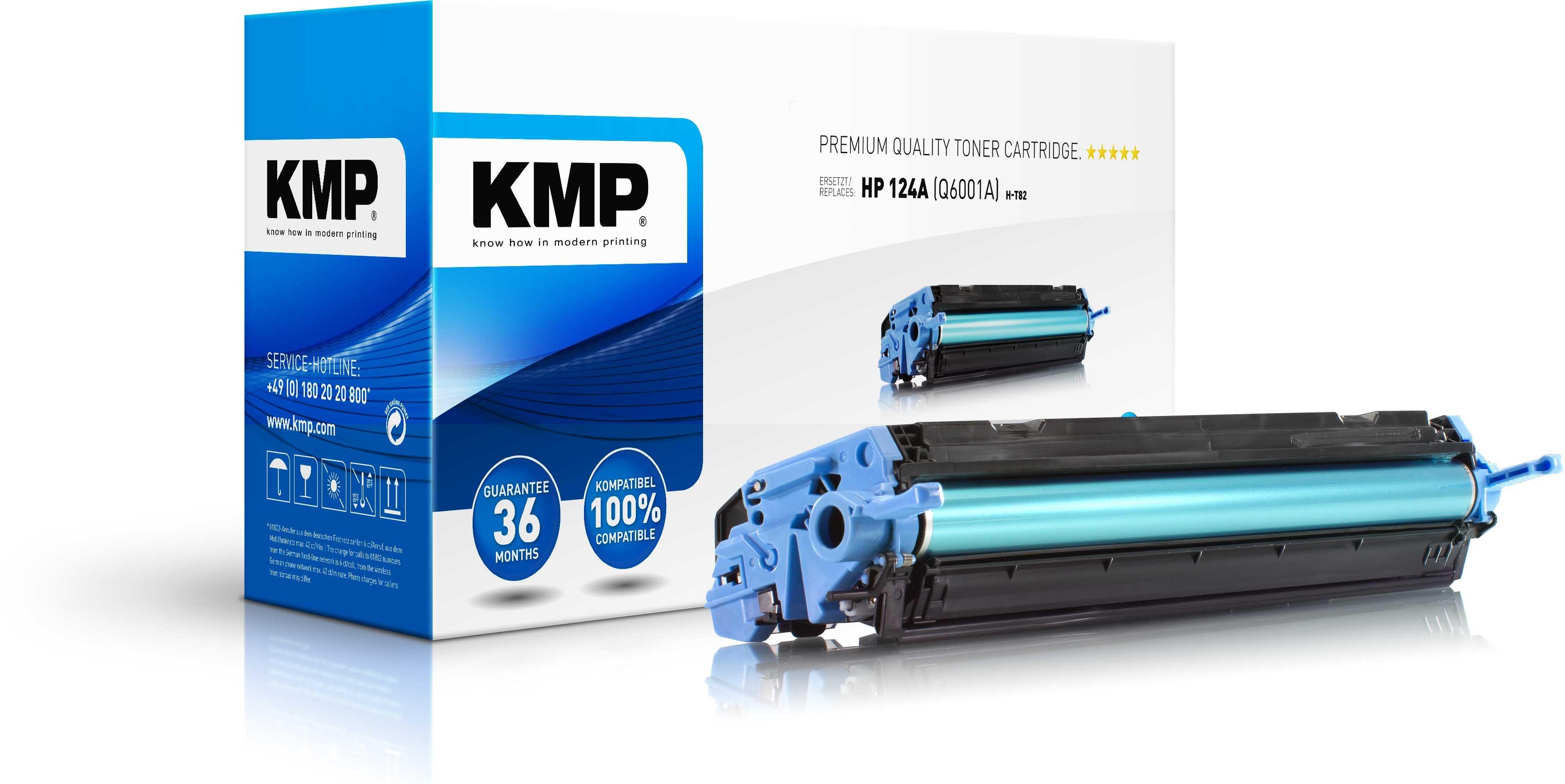 Vorschau: KMP Toner für HP Q6001A Color Laserjet 1600 / 2600 Series cyan