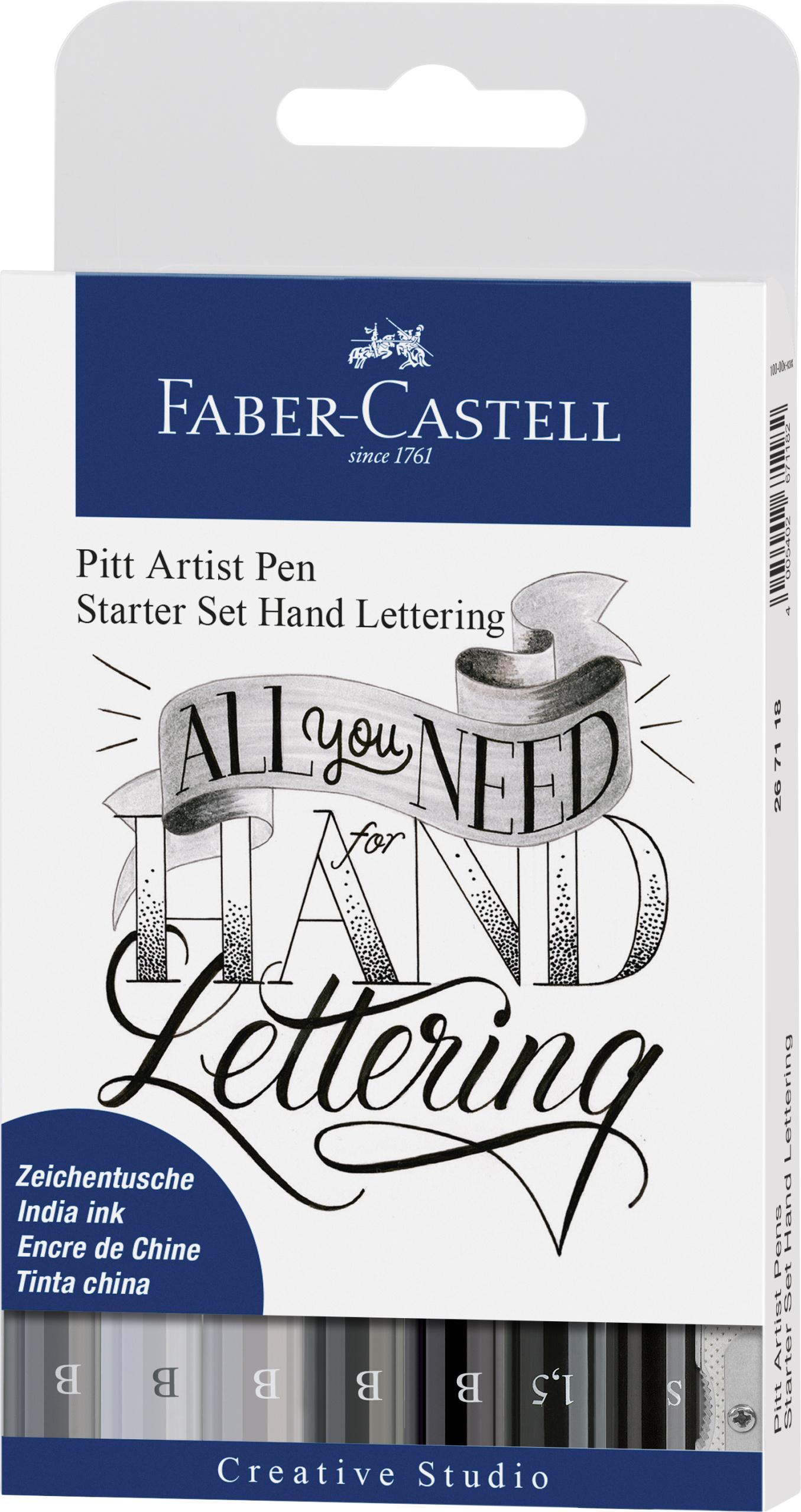 Faber-Castell Pitt Artist Pen Starterset Handlettering # lettering