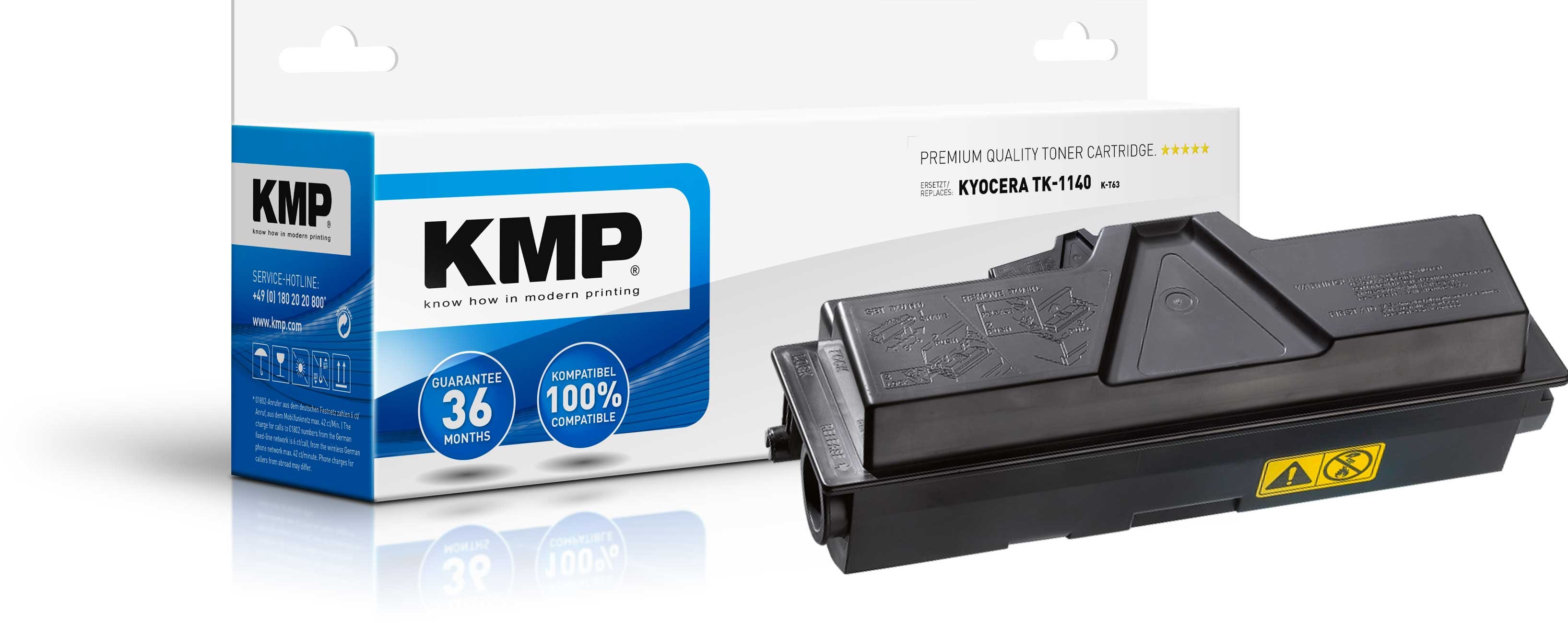 KMP Toner K-T63 für Kyocera TK-1140 FS-1035MFP etc. black