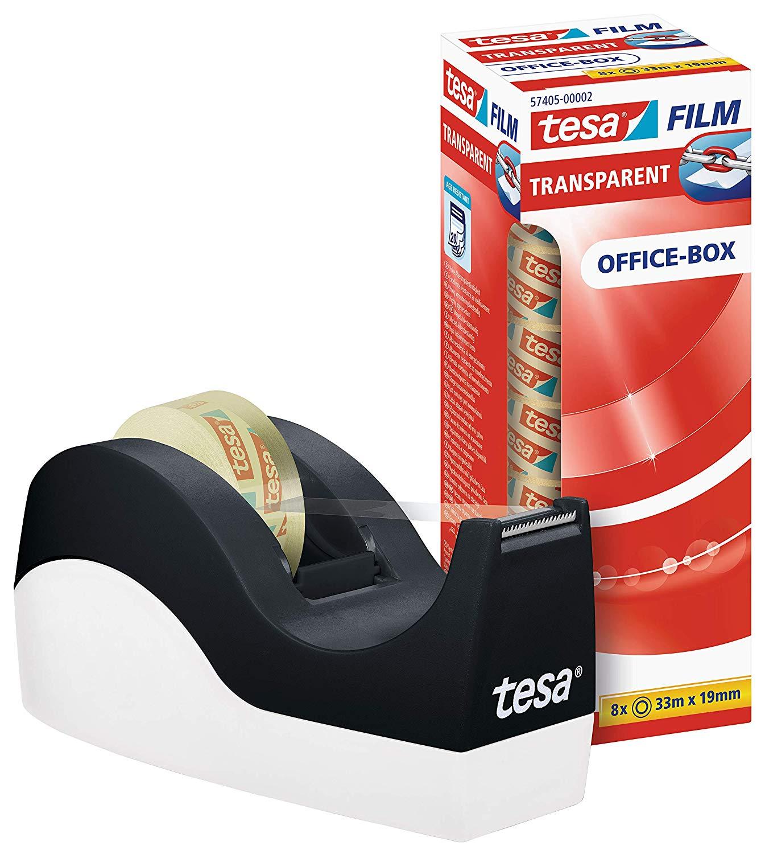 Vorschau: tesa Easy Cut Orca Tischabroller (rutschfest, einfache Handhabung, sauberer Schnitt mit 8 Rollen tes