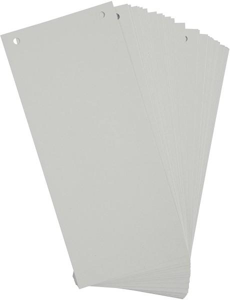 Exacompta 100er Pack Trennstreifen Karton 10,5 x 24 cm Grau für eine übersichtliche Ablage Ihrer Dok