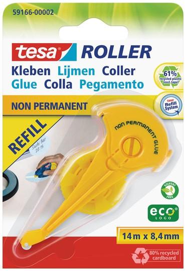 tesa Roller Kleben non permanent ecoLogo, Nachfüllkassette ( Blister )
