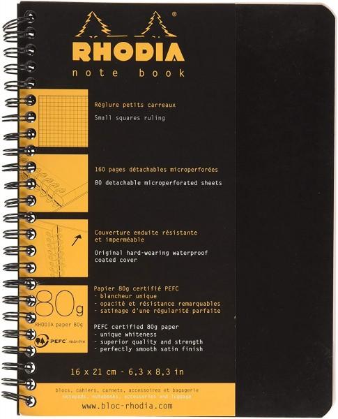 Rhodia 19346C Notebook (liniert, ideal für Ihre Notizen, DIN A5, 80 Blatt, 21 x 16 x 1 cm) 1 Stück f