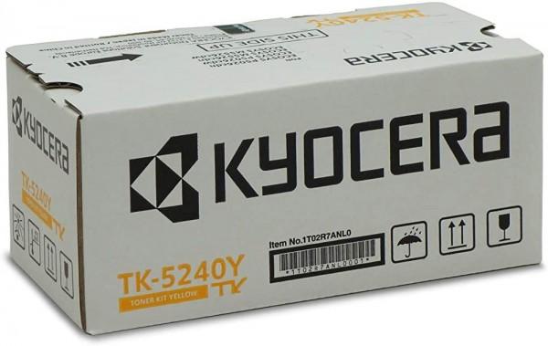 Kyocera TK-5240Y Original Toner-Kartusche Gelb 1T02R7ANL0. Für ECOSYS M5526cdn, ECOSYS M5526cdw, ECO