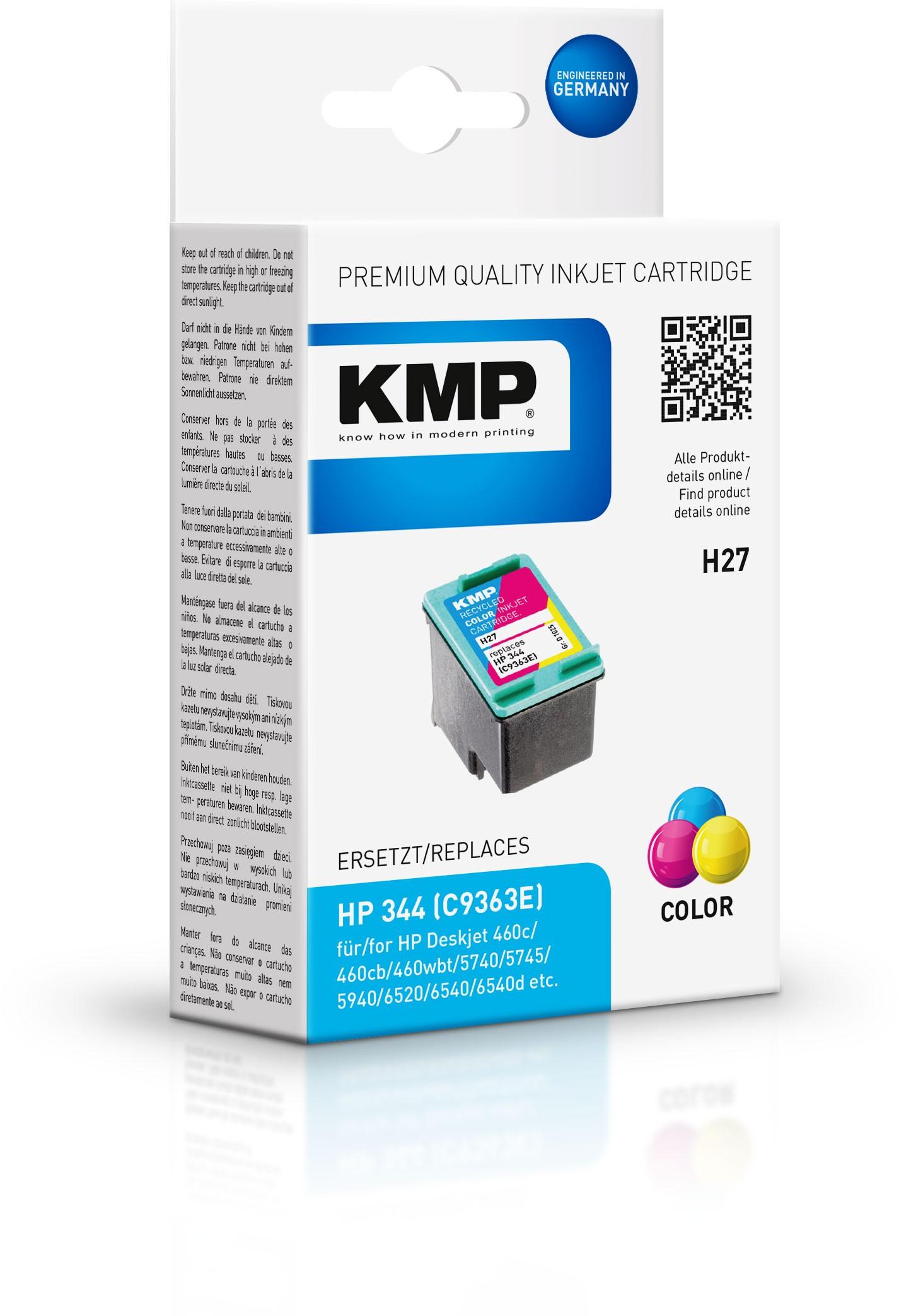 Vorschau: KMP Patrone H27 komp. C9363E HP DeskJet 6540 9800 color