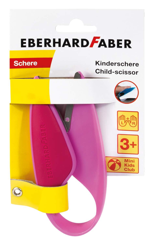 Eberhard Faber 579928 Kinderschere für Linkshänder und Rechtshänder, optimal zum Schneiden und Baste