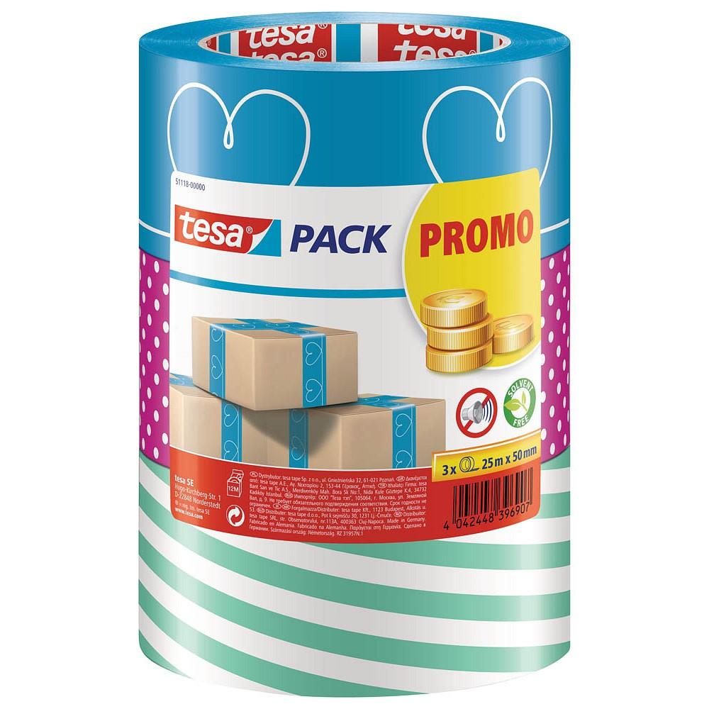 GP: 0,07 €/m tesa - buntes Packband Klebeband Packetklebeband Verpackungsband in verschiedenen bunte