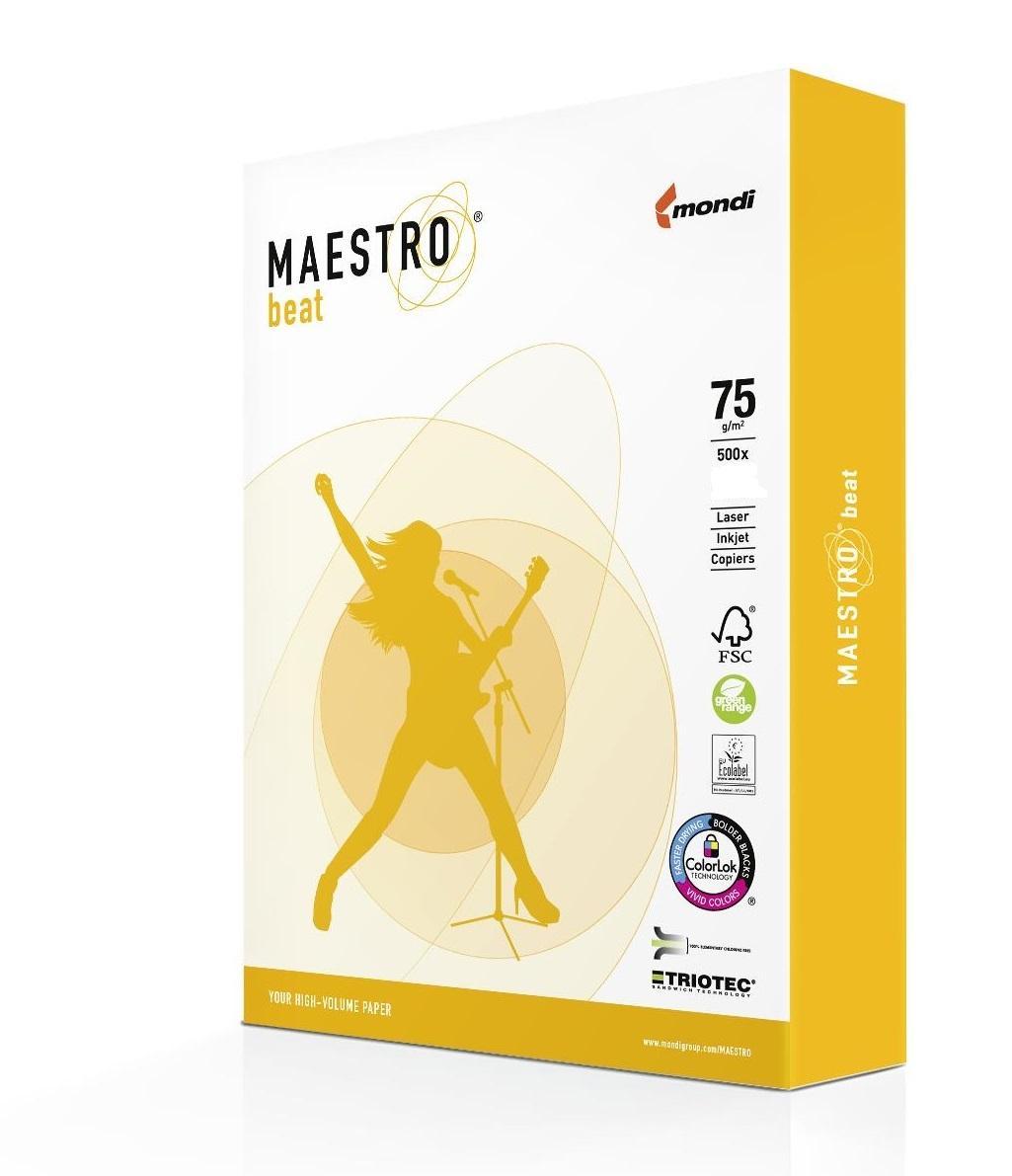 Maestro beat 75g/m² DIN-A3 - 500 Blatt weiß