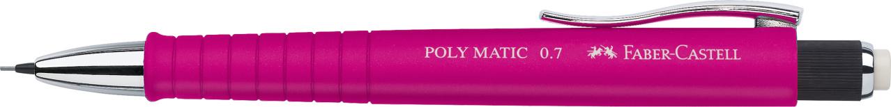 Faber-Castell Druckbleistift Poly Matic - 0,7 mm, B, pink