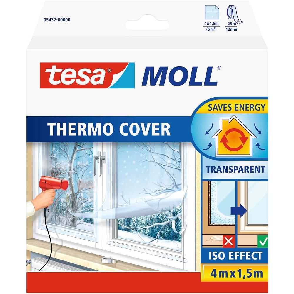 tesa tesamoll® Thermo Cover Fensterisolierfolie 4,0m x 1,5m transparent