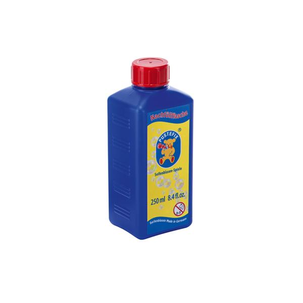 Pustefix – Nachfüllflasche – 250 ml Seifenblasenflüssigkeit – Seifenblasen – Gebrauchsfertig Gemisch