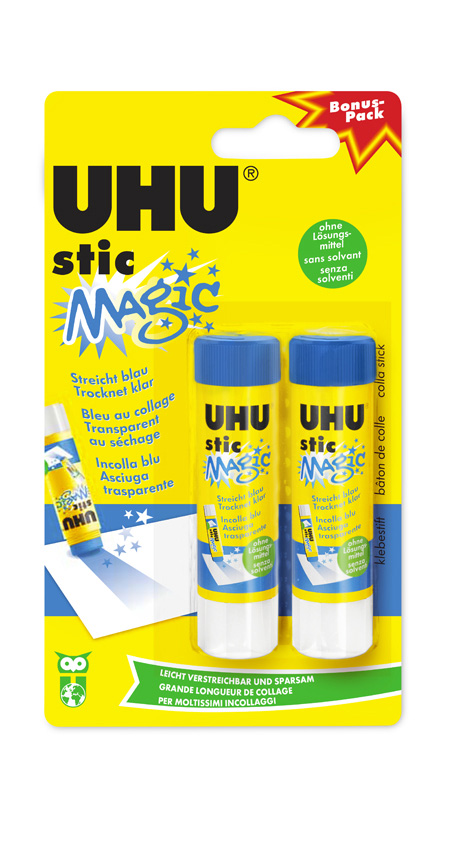 UHU stic MAGIC Klebestift Infokarte 2x8,2g