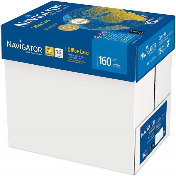 1250 Blatt Navigator 160g/m² Office Card Kopierpapier weiß