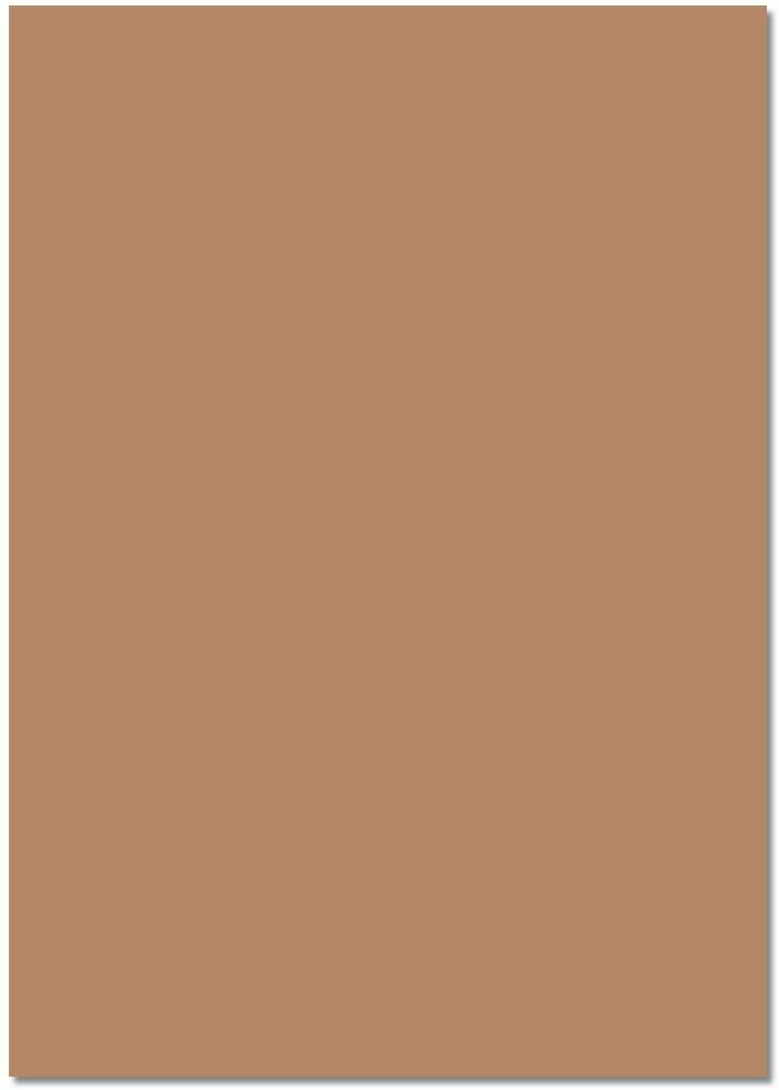 folia 6475 - Tonpapier rehbraun, DIN A4, 130 g/qm, 100 Blatt - zum Basteln und kreativen Gestalten v