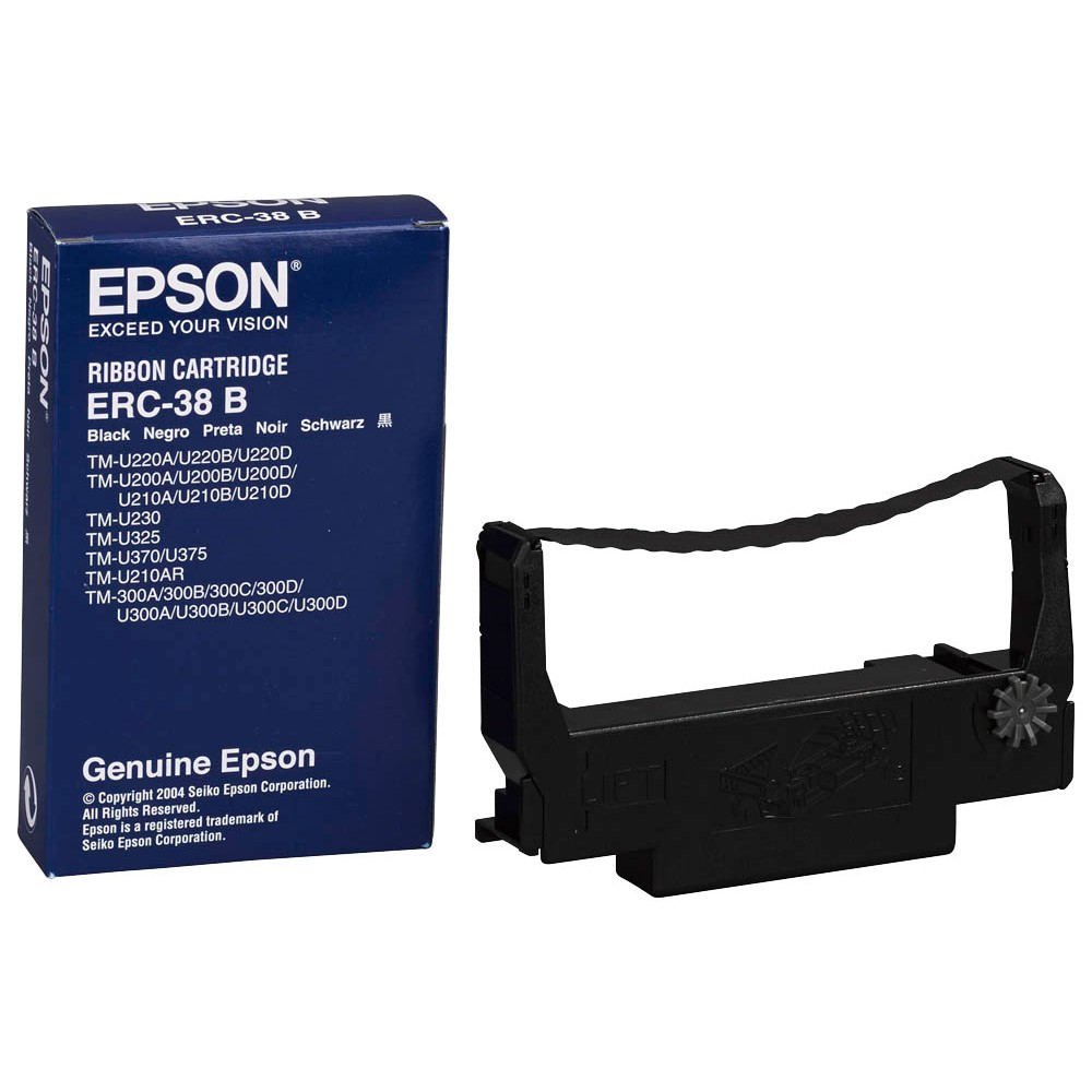 Original EPSON ERC38B - S015374 schwarz Farbband