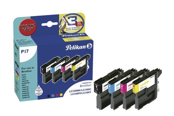 Pelikan Patrone Promo Pack P17 komp. zu LC1100 für Brother DCP-185C bk / c / m / y