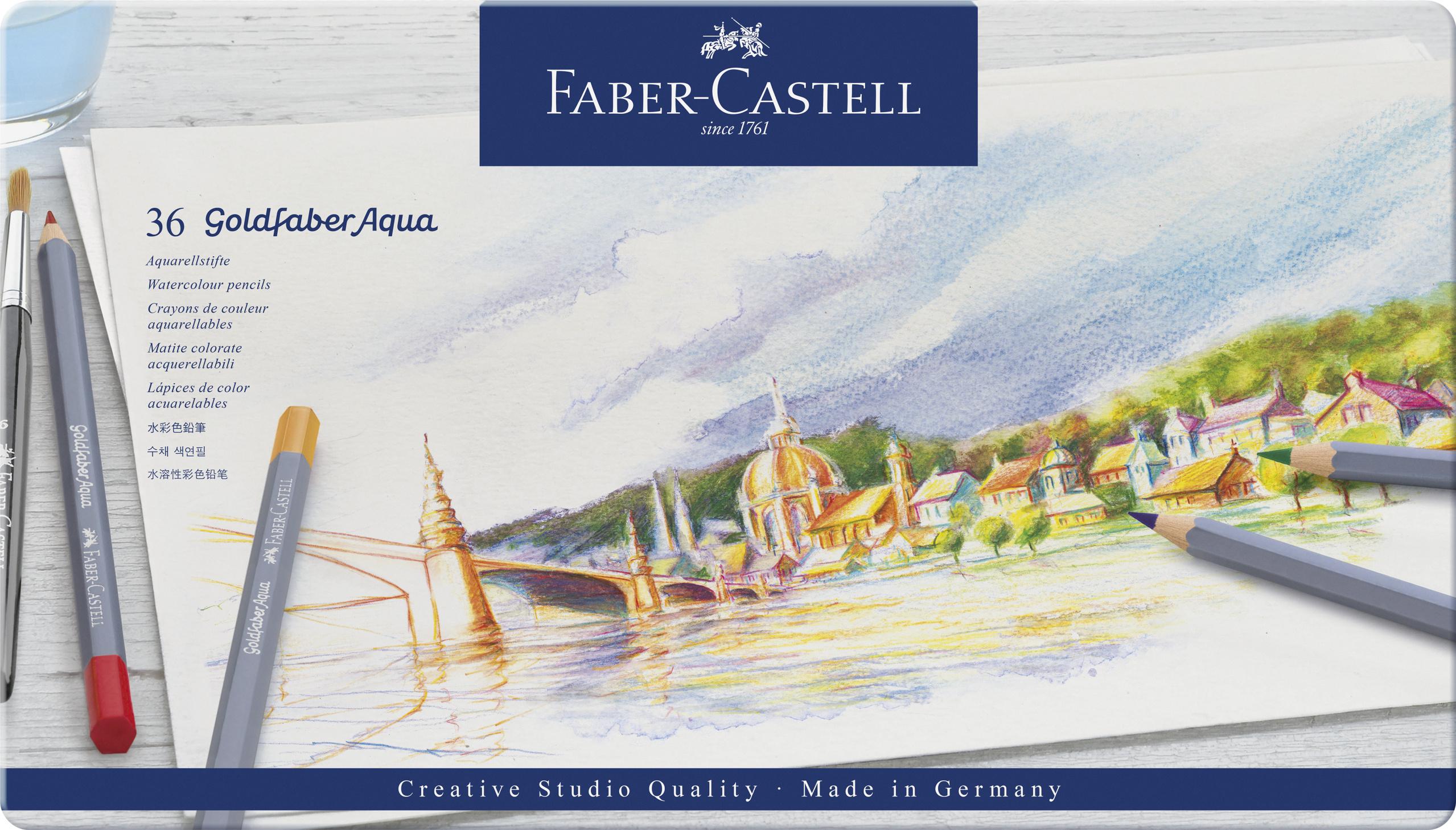 Faber-Castell Goldfaber Aqua Farbstifte 36er Metalletui