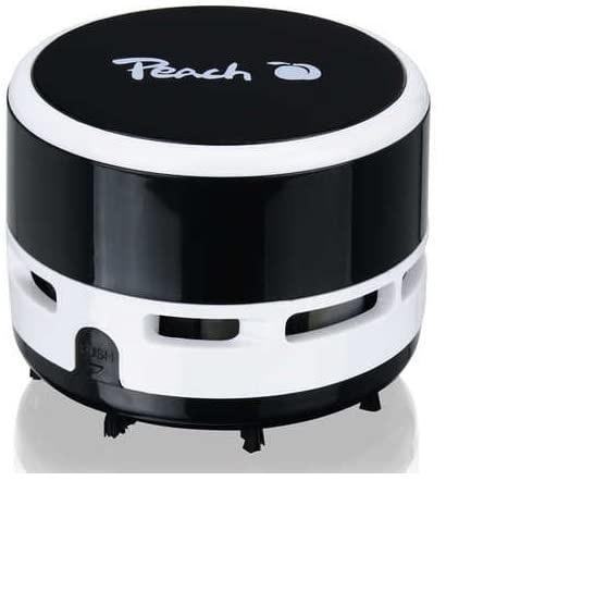 Peach PA105 Mini Staubsauger | 1 Stück | batteriebetrieben (2x AA) | hohe Saugkraft | schwarz, hellb