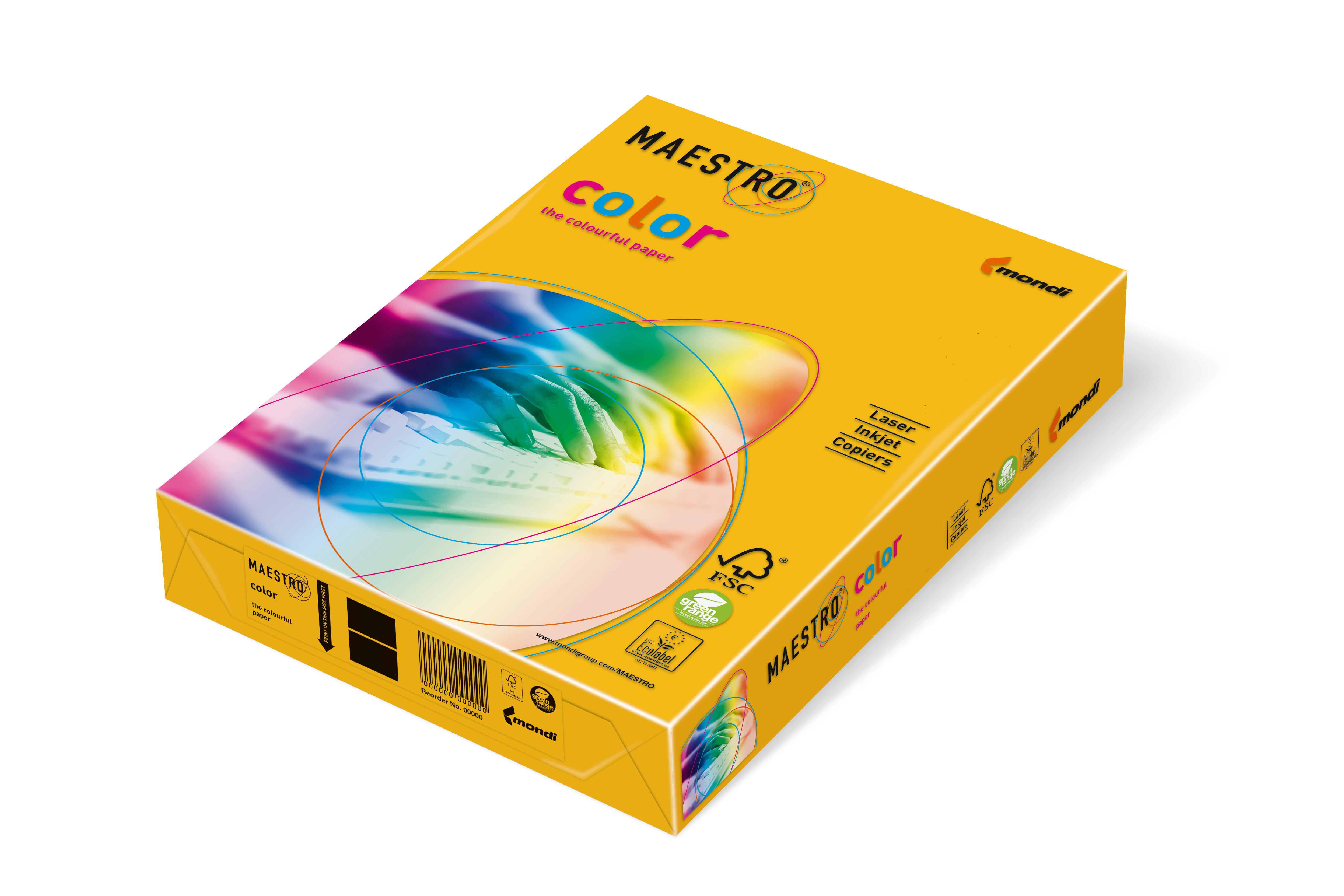 Vorschau: Mondi Maestro Color sonnengelb 120g/m² DIN-A4 - 250 Blatt SY40