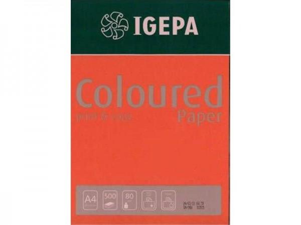 Igepa Coloured Paper Intensiv ziegelrot 80g/m² DIN-A4 - 500 Blatt