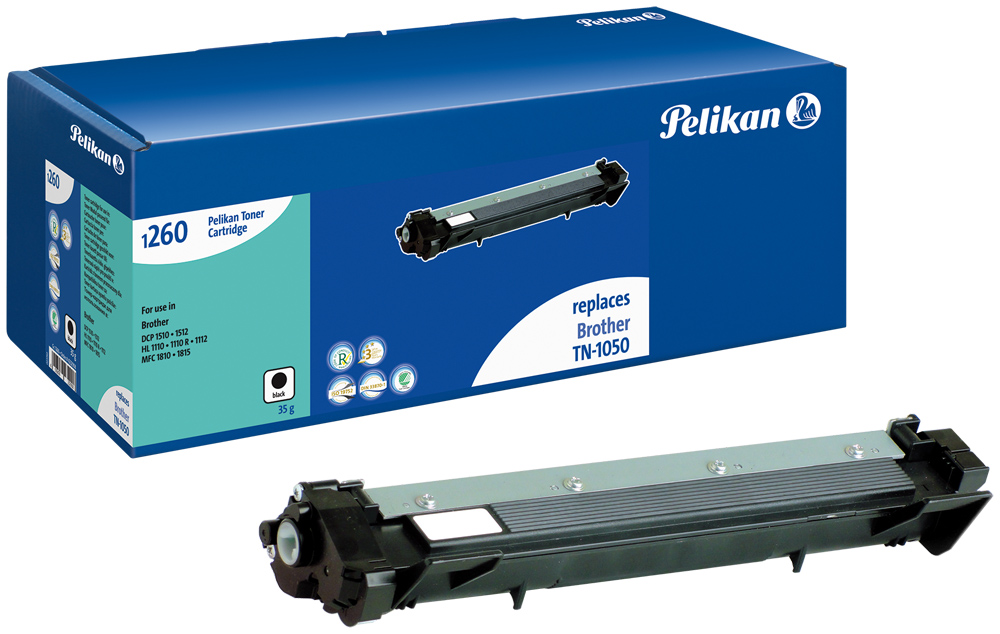 Pelikan Toner komp. zu TN-1050  Brother DCP-1510 etc. black