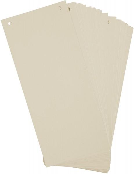 Exacompta 100er Pack Trennstreifen Karton 10,5 x 24 cm Chamois für eine übersichtliche Ablage Ihrer