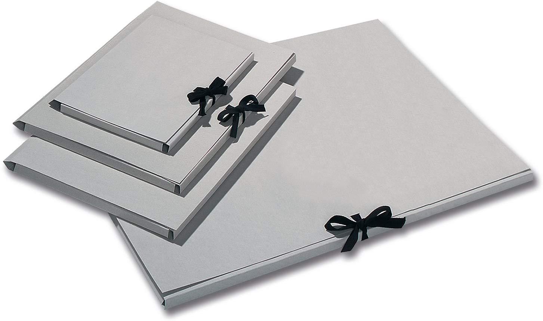 folia Sammelmappe aus Graukarton für DIN A3/6905 mit Band