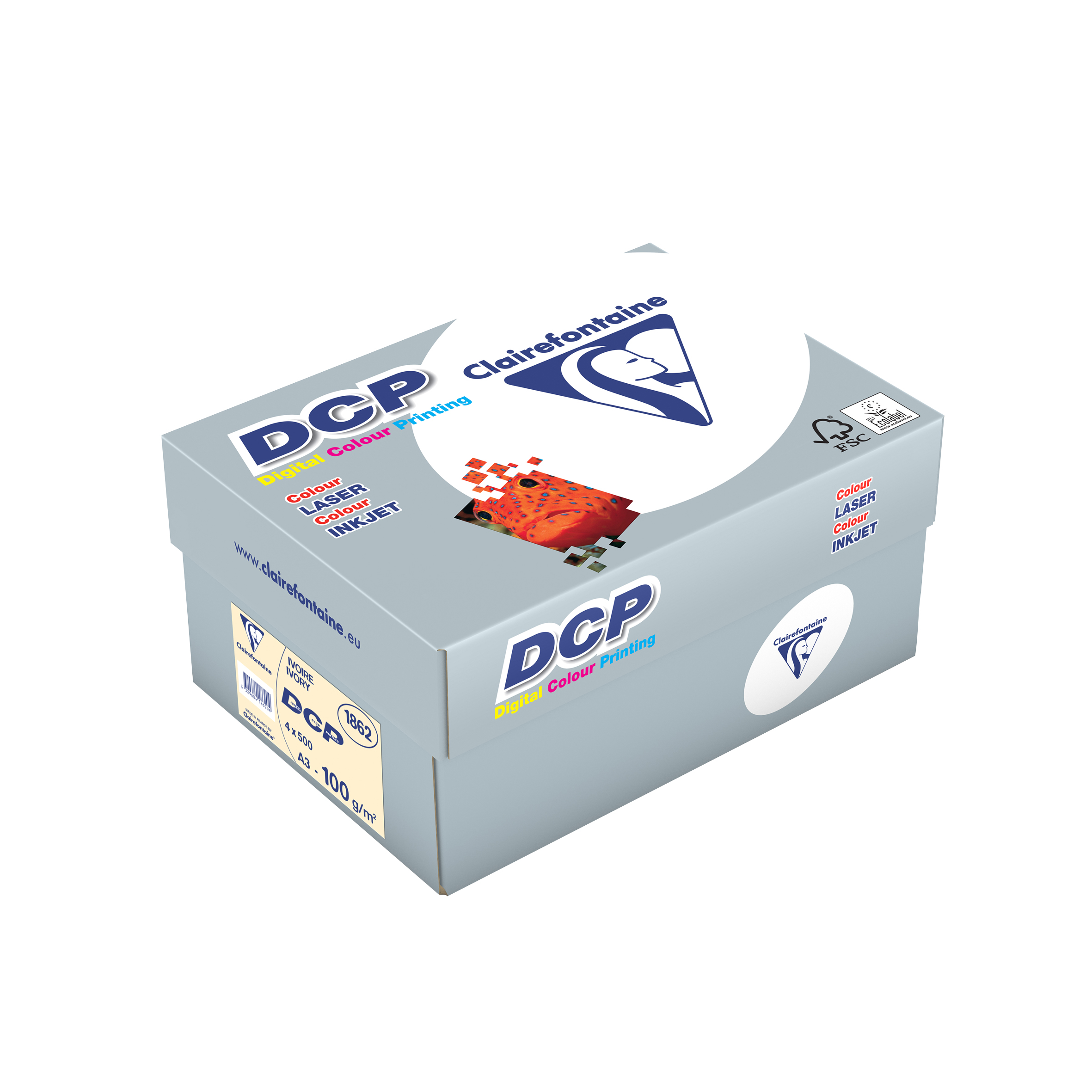 Clairefontaine DCP Ivory elfenbein digital color printing 100g/m² DIN-A3 2000 Blatt 1862C