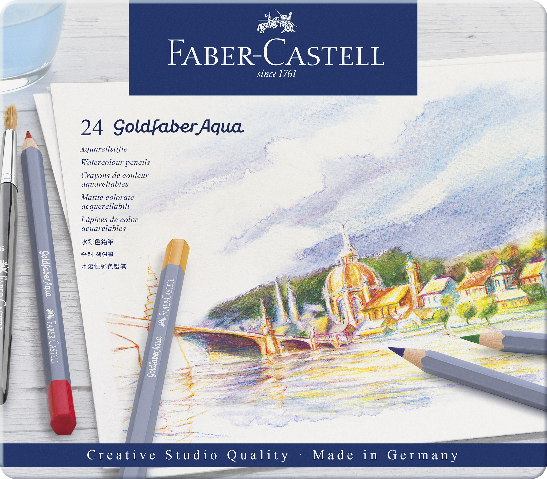 Faber-Castell Goldfaber Aqua Farbstifte 24er Metalletui