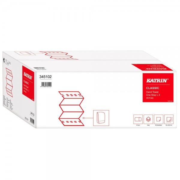KATRIN Papierhandtücher Classic One Stop L 3 Interfold-Falzung 3-lagig 1.890 Tücher