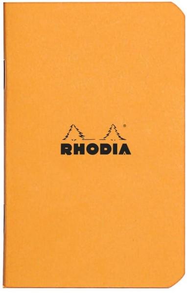 Rhodia 119158C Heft (kariert, 7,5 x 12 cm, 24 Blatt) 1 Stück orange