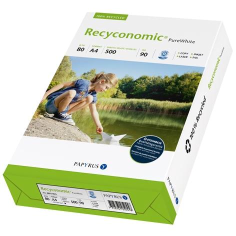 Recyconomic® Pure White Papier 80g/m² DIN-A4 500 Blatt