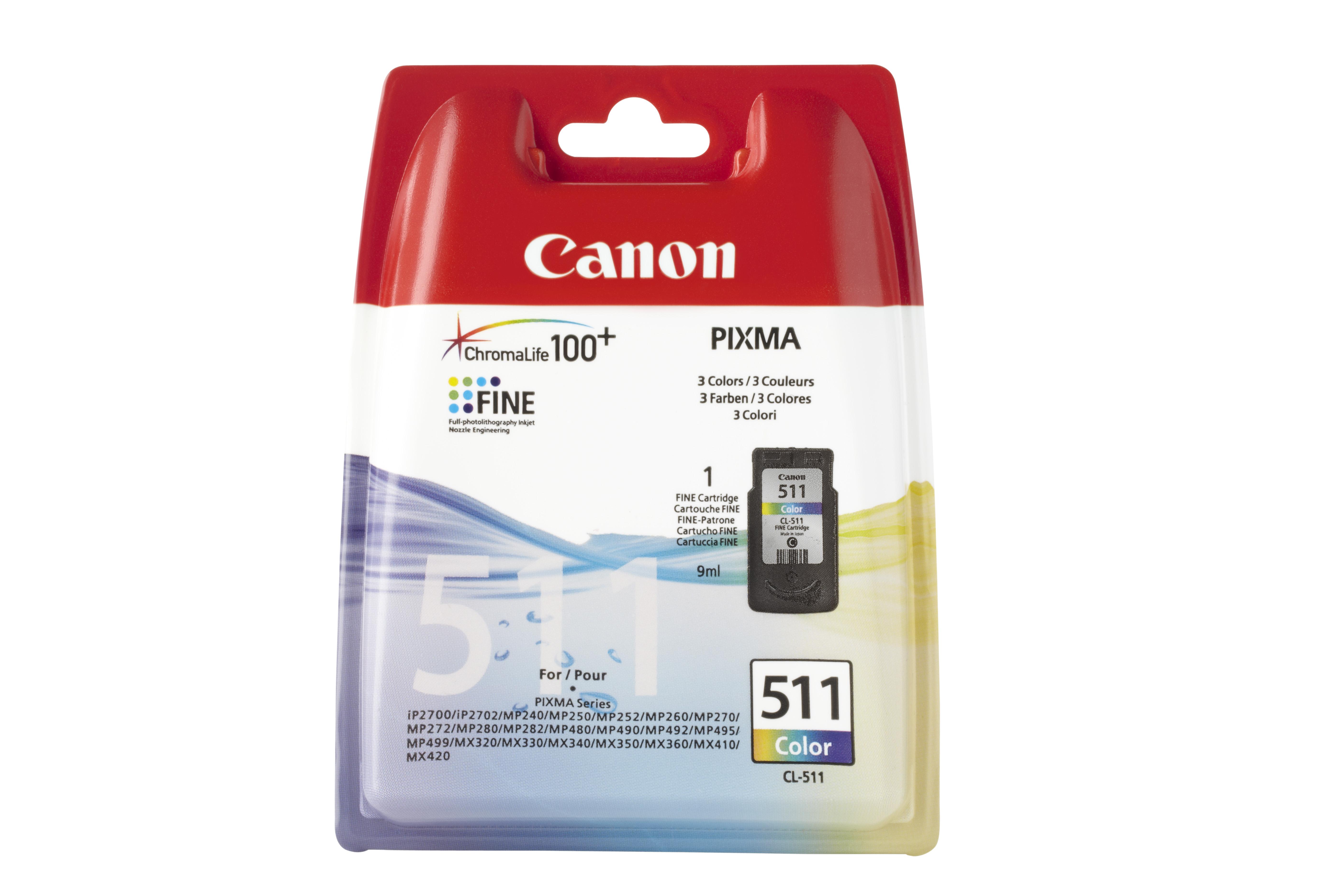 Vorschau: Original Canon CL-511 für PIXMA MP240 MP260 MX320 color